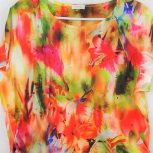 CHICO'S Tropical Blouse Size 2